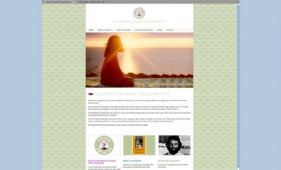 Web Design for yoga community site